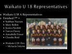 waikato u 18 representatives