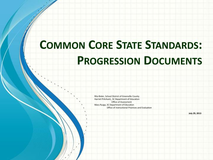 common core state standards progression documents n.