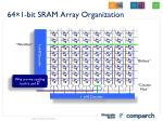 64 1 bit sram array organization