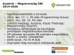 ausztria magyarorsz g cbc 2014 2020
