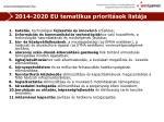 2014 2020 eu tematikus priorit sok list ja