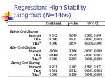 regression high stability subgroup n 1466