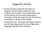 linguistic choices