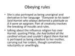 obeying rules