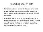 reporting speech acts