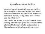 speech representation