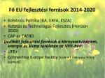 f eu fejleszt si forr sok 2014 2020
