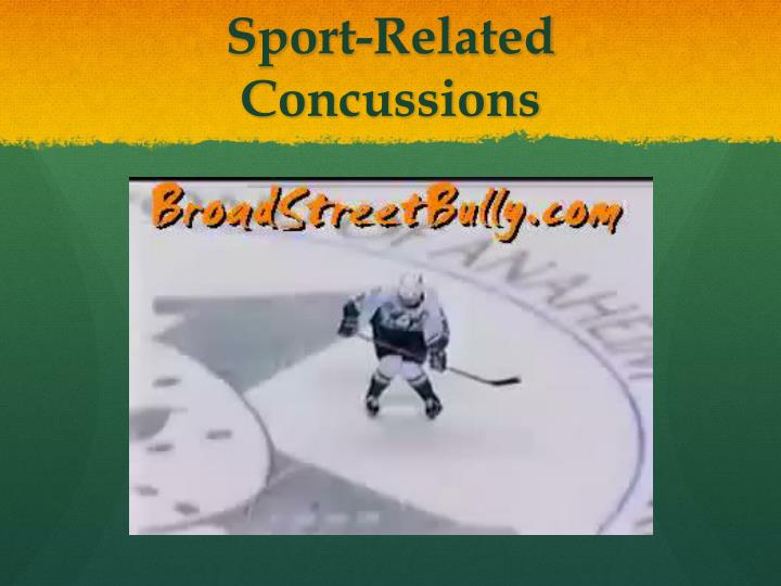 sport related concussions n.