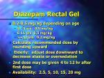 diazepam rectal gel