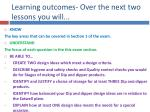 learning outcomes over the next two lessons you will
