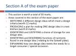 section a of the exam paper
