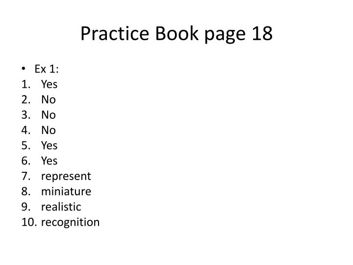 practice book page 18 n.
