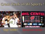 great week in wi sports