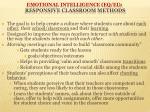 emotional intelligence eq ei responsive classroom methods