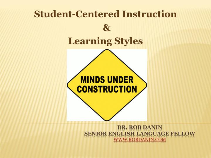 student centered instruction learning styles n.
