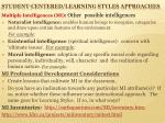 student centered learning styles approaches1