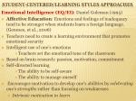 student centered learning styles approaches5