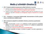 mediu i schimb ri climatice i