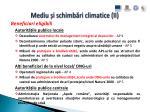 mediu i schimb ri climatice ii