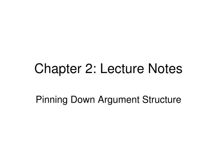 chapter 2 lecture notes n.