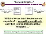 demand signals