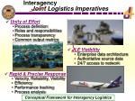 joint logistics imperatives