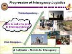 progression of interagency logistics