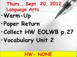 thurs sept 20 2012 language arts