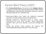 cannon bard theory 1927