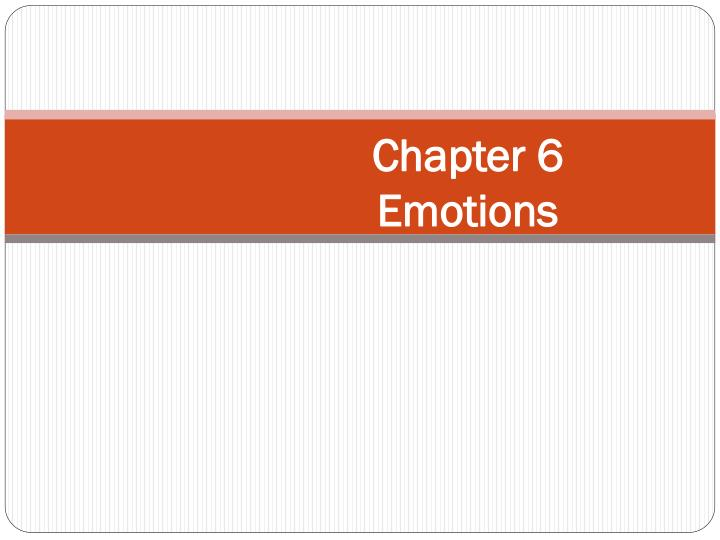 chapter 6 emotions n.