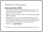 theories of emotions