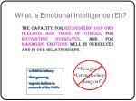 what is emotional intelligence ei