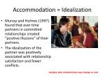accommodation idealization