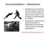 accommodation idealization1