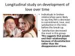 longitudinal study on development of love over time3