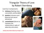 triangular theory of love by robert sternberg