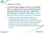3 appeal to history1