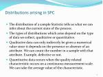 distributions arising in spc