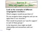 exercise 3 who will support our plans