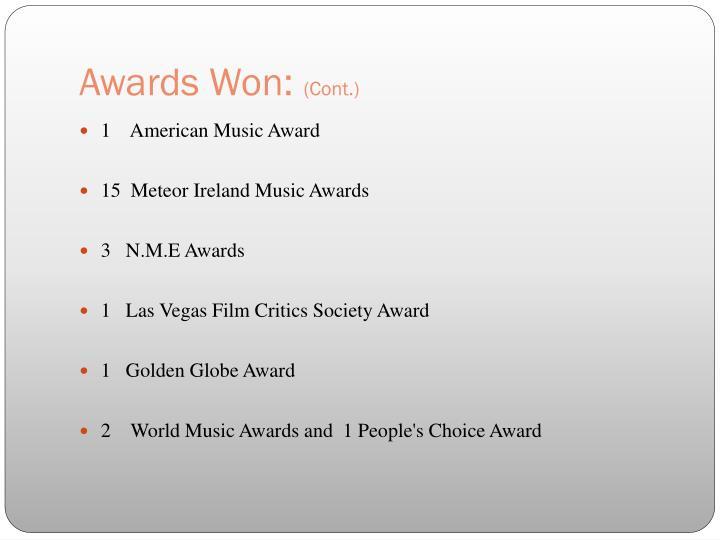 Awards Won: