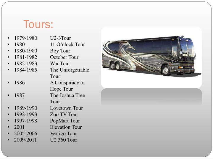 Tours: