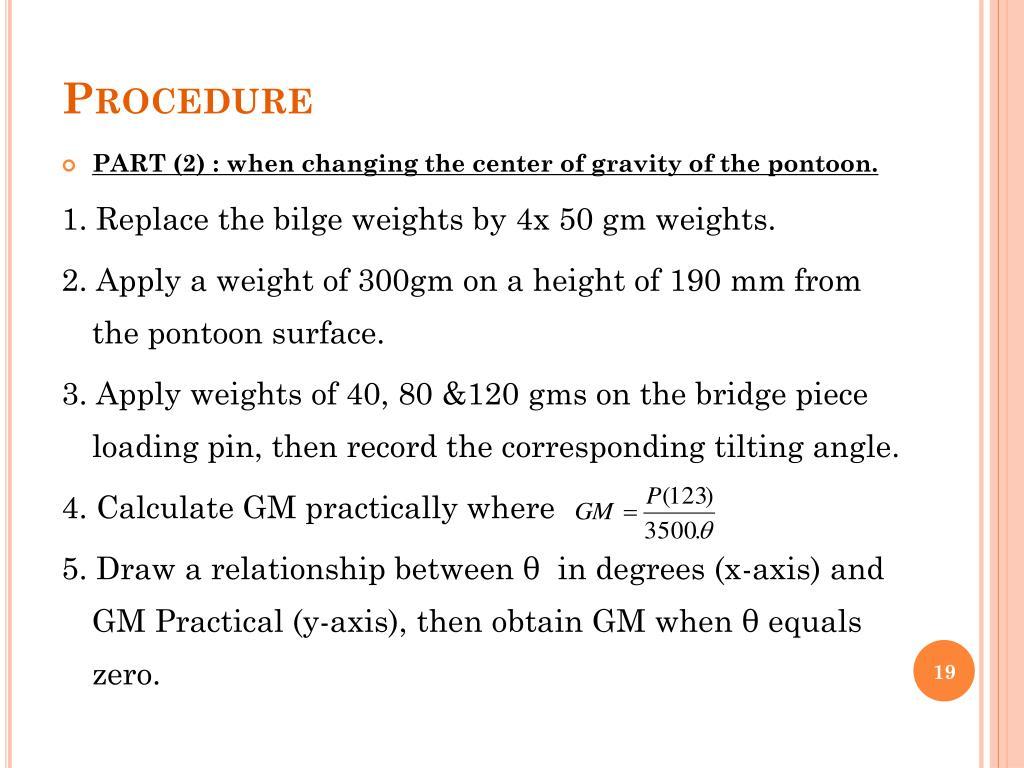 PPT - Experiment (2) BUOYANCY & FLOTATION (METACENTRIC