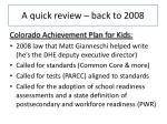 a quick review back to 2008