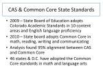 cas common core state standards