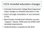 cccs remedial education changes