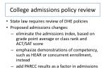 college admissions policy review