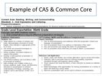 example of cas common core