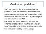 graduation guidelines