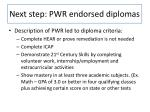 next step pwr endorsed diplomas