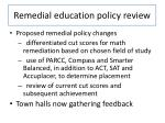 remedial education policy review
